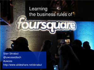 Learning the business rules of Foursquare