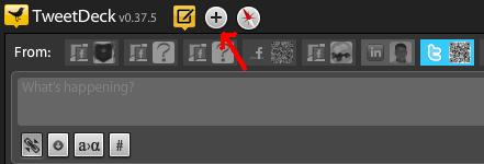 Tweetdeck Add Column Button