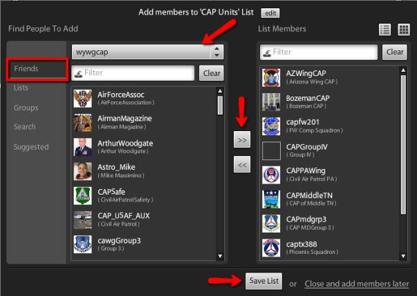 Tweetdeck Add Members to List Box