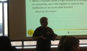 Stan presenting on presenting
