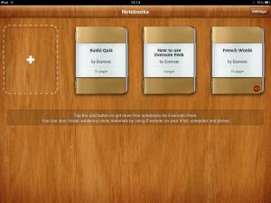 Evernote Peek opening screen