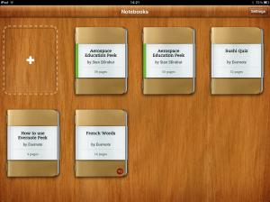 New Evernote Peek notebooks