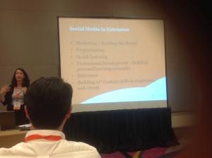 Sarah Baughman talking about social media in Extension