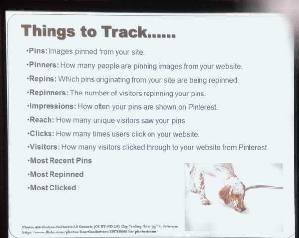 Pinterest Items to Track