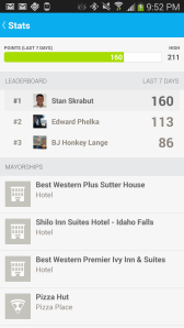 Foursquare Leaderboard