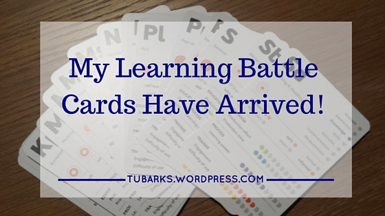 My Learning Battle Cards Have Arrived!