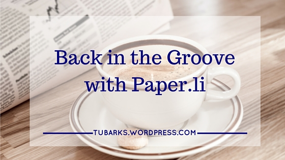 Back in the Groove with Paper.li