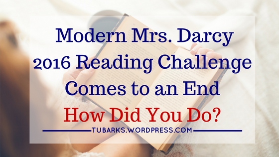 Modern Mrs. Darcy 2016 Reading Challenge Comes to an End